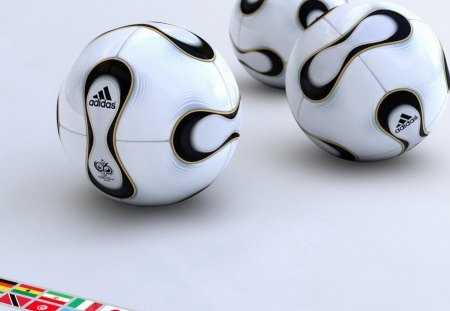 Adidas Football - football, 3d, black and white, adidas, three