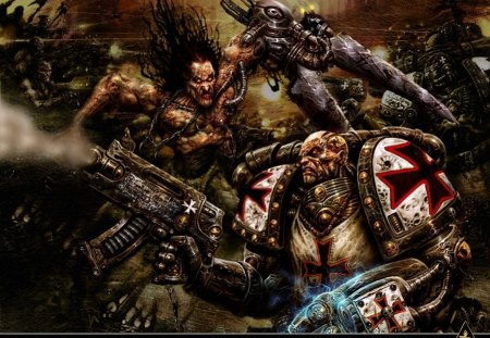 chaos warriors - marine, space, warhammer, game, 40k
