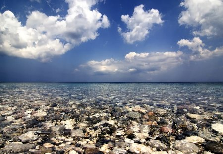Chios Island Greece - clouds, greece, blue, island, beach, chios, sky, nature