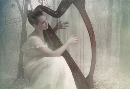 Forest Hymn - hymn, fairy, harp, forest, musical, fantasy