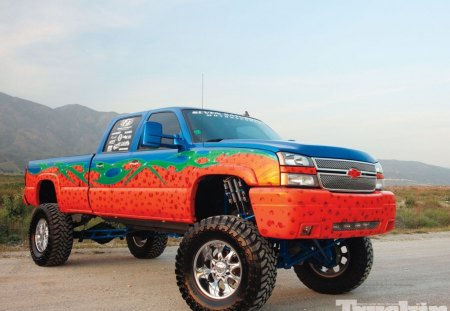 06 Chevy Silverado 2500HD - bolwtie, lift, gm, colorful