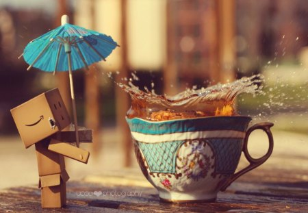 It's Time For Dambo To Drink Tea! - relax, afternoon, time, favourite, tea, danbo, drink, sweet
