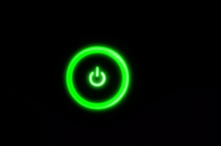Power - green, dark, cool, nice, black, awesome, button, power