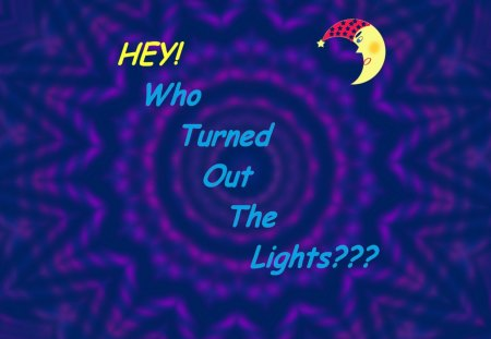 Hey! Who Turned Out the Lights??? - thunderstorms, m00n, nighttime, darkness, crescent moon, nightime, lightning, night, power outage, moon