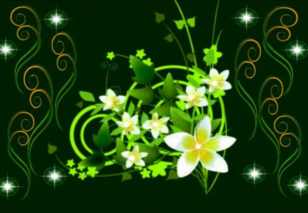 Green Dreams - flowerscape, flowers for you, summertime flowers, summer delight