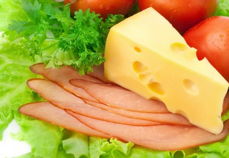 Healthy Food - healthy, cheese, lettuce, food