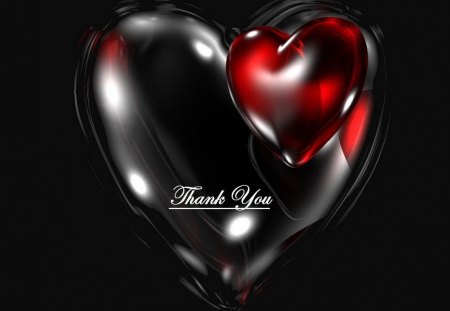 Thank you heart - thank you, red, heart, black