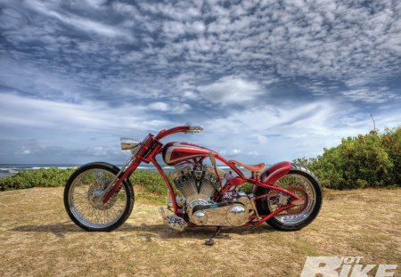 The Ratt Trap - custom, bike, red, chrome