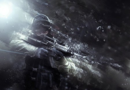 Counter strike source - action, video, counter strike source, game, rock