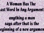 Women have the last word