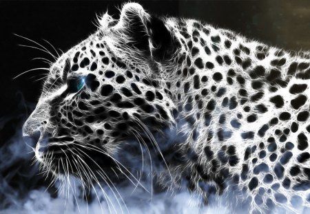 abstract leopard - abstract, leopard, eyes, beauty