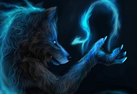 MAGIC WEREWOLF - fire, bird, magic, werewolf