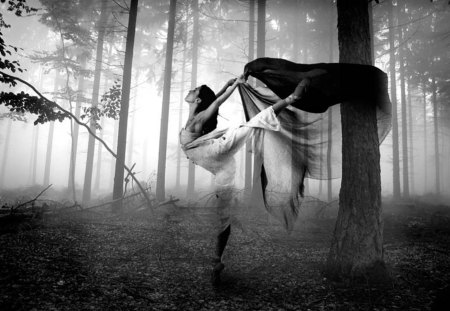 Magic Dance - dance, forest, woman, magic