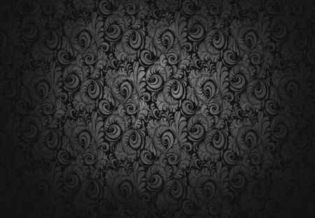 black wallpaper - wallpaper, floral, swirls, black