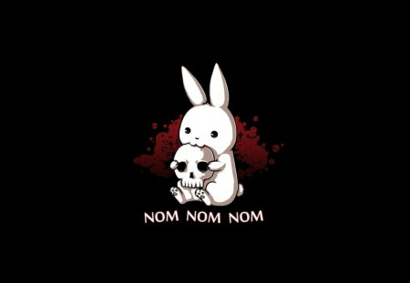 NomNom Rabbit - funny, nom, music, rabbit, animal