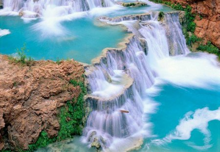 Crystal clear blue waterfalls waterfalls nature - Crystal pools waterfall ...