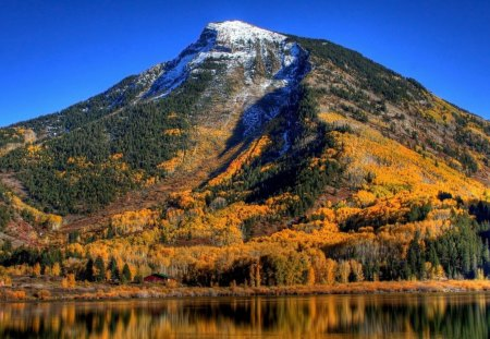 Mountain - lake, nature, mountain, autumn