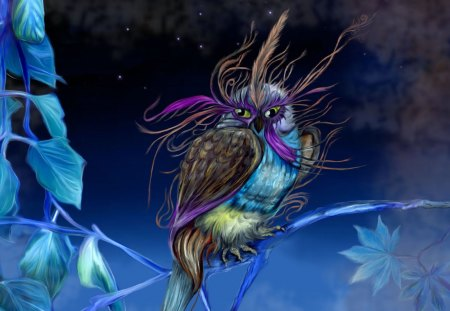 FANTASY BIRD - wallpaper, bird, fantasy, colorful