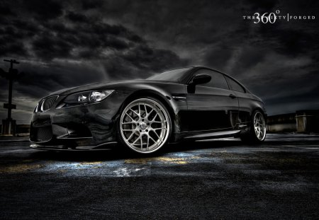 BMW 3 Series - black, car