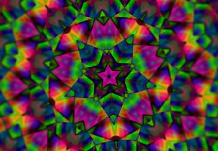 Mosaic Mystery - green, purple, triangles, pink, zzzzzzetc, violet, stars
