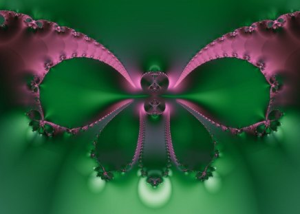 party butterfly - abstract, green, wings, art