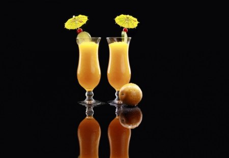 COOL ORANGE SUMMER DRINK - fruits, fast, ymmy, drink