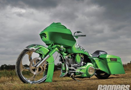 The Green Goblin - hd, green, chrome, bike