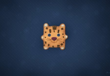 Mountain Lion - fun, lion, cute, blue, os, stitching, animal, mac, cat