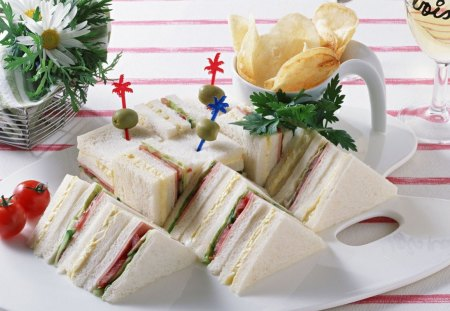 Club Sandwich - sandwich, service, breakfast, food
