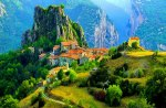 Village in high mountains