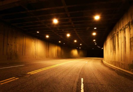 Tunnel Vision - tunnel, vision, nighttime, art, tunnel art, night