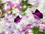 Lilacs and Lilac Bird