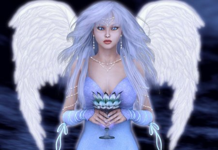 Guardian_Angel - 3d, blue, wings, white