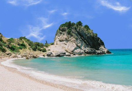 Greek Beach - samos, swimming, beach, greece, wallpaper, widescreen, sunny, europe, sea, sun