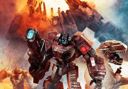 Transformers Fall of Cybertron - activision, transformers, decepticons, xbox 360, game, ps3, autobots, fall of cybertron