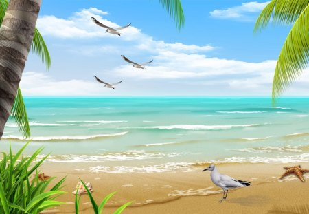Beautiful Sea By The Beautiful Sea  Beaches & Nature Background Wallpapers On