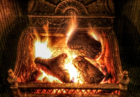Beautiful winter fireplace - wow, ow, oow