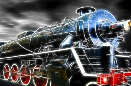 Train_Wallpaper - art, black, wheels, train
