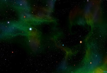 Darkness of green space stars space background - Space wallpaper green ...