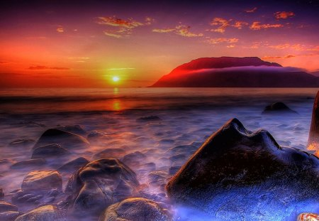 Beautiful Sunset - hdr, vivid, lovely, colorful