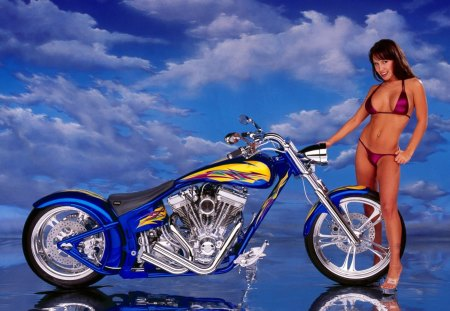 Chopper - bike, softail, harley davidson, motorcycles, choppers, special, construction, models, chopper, bikes, fashion, harley, has a v-twinhd engine
