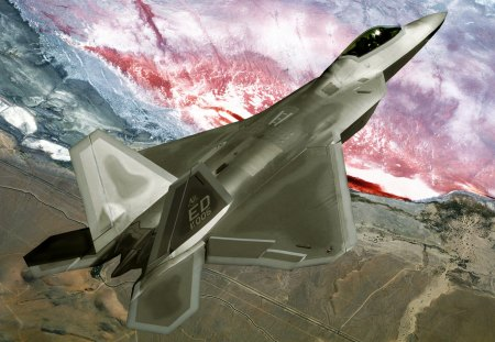 f-22 Raptor - airplane, air force, pilot, jet fighter