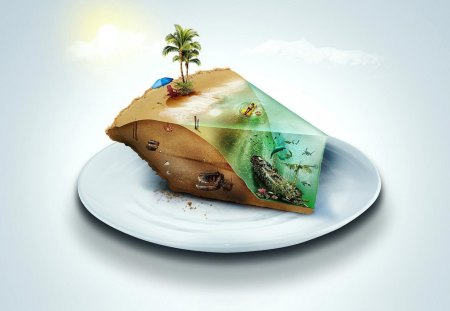 ISLAND PIE - island, beautiful, awesome, sky, love, food