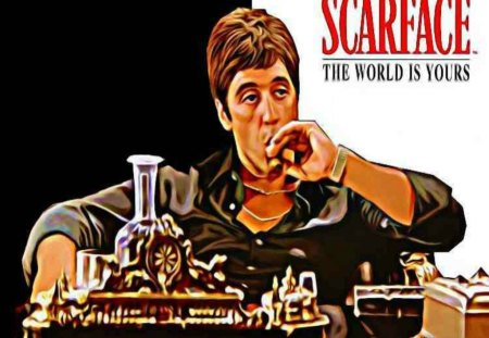 scarface 3D and CG Abstract Background Wallpapers on Desktop