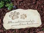 Devotion Pet Memorial Garden Stone♥
