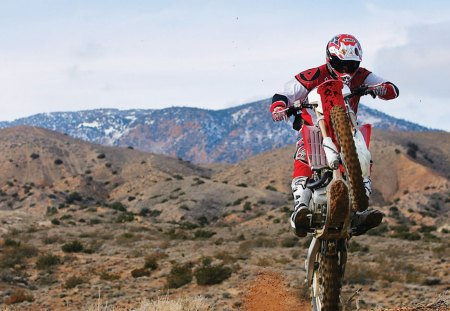 HONDA CRF450X WHEELIE - 450x, desert, wheelie, red, honda, crf