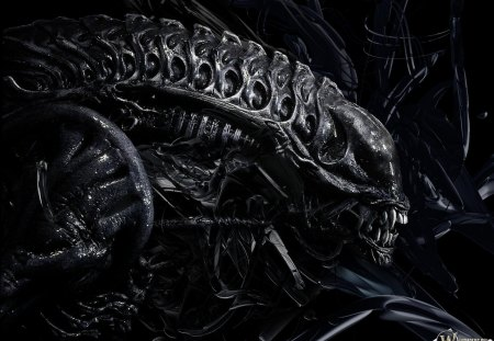 Alien - creature, alien, black, deadly