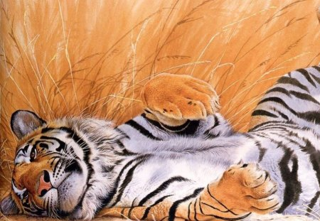 Beautiful Tiger Art - abstract, tiger, art, animal