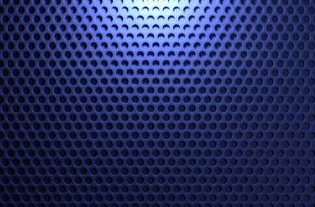 Blue Pegboard Background - grill, blue, grid, circles, holes, speaker, texture