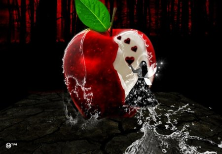 Hungry for your LOVE - love, red, life, apples, hearts, hunger, waters, seasons